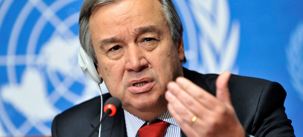 UN Secretary-General condemns all attacks on populated areas impacted by the conflict